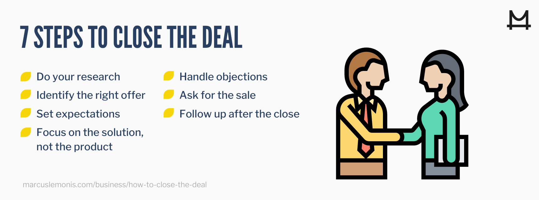 Seven steps on how to close the deal