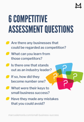 Six competitive assessment questions to ask in business.