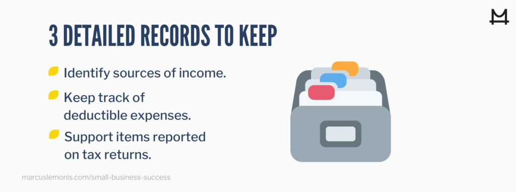 Three important items to keep detailed records of