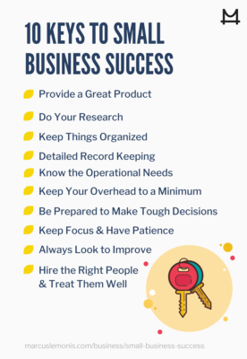 Ten important keys to success for small businesses