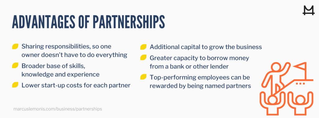 List of the advantages of partnerships