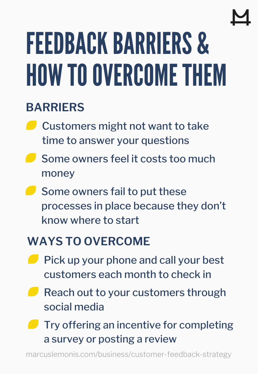 Different feedback barriers to entry and how to overcome them