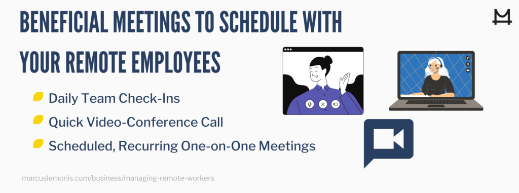 Beneficial meetings to have with your remote employees