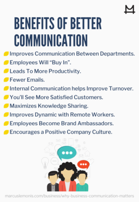 Different benefits of better communication in business