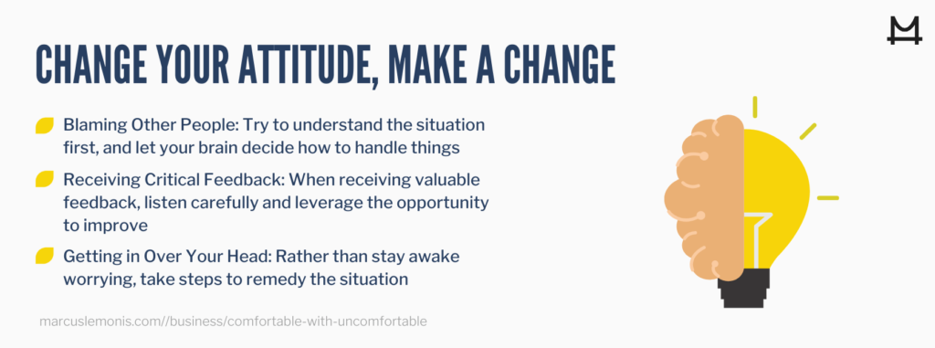 List of three things to help you make a change.