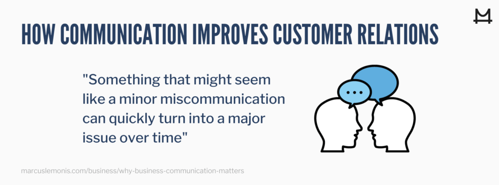 Understanding how communication improves customer relations