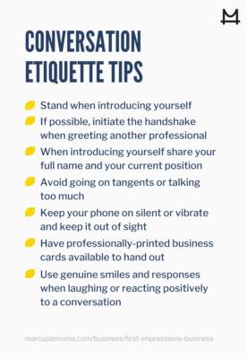 Tips on proper conversation etiquette