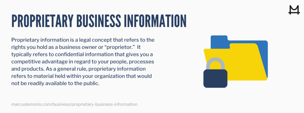 proprietary information refers to the rights you hold as a business owner