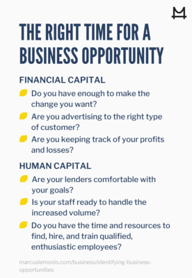 How to determining if it is the right time for a new business opportunity