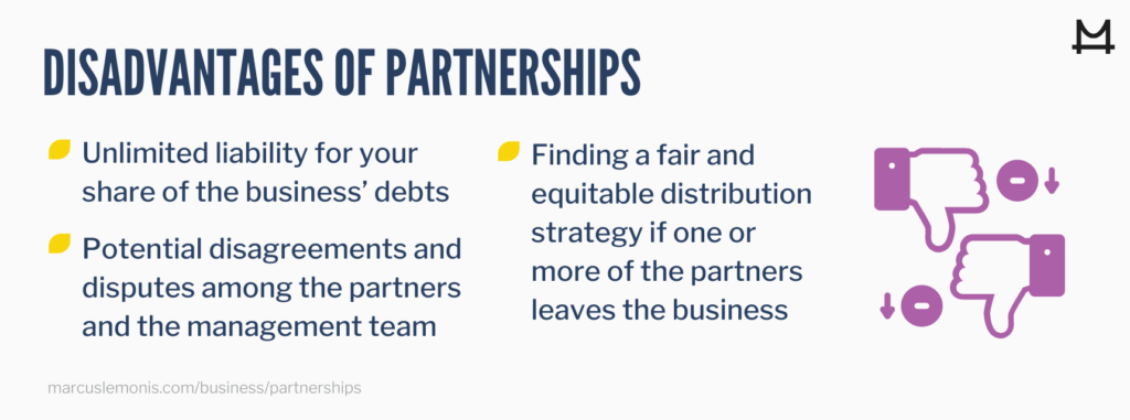 List of the disadvantages of partnerships