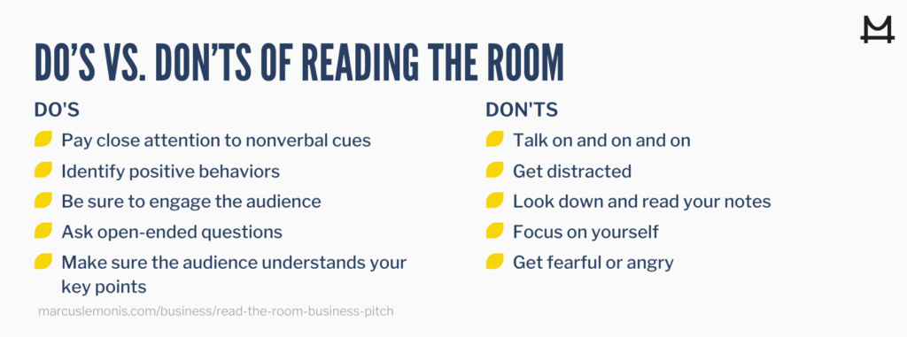 Do's and don'ts of reading the room
