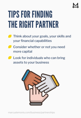 List of tips for finding the right partner.