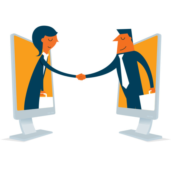 Making first impression by handshaking virtually through the computer