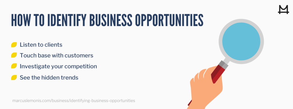 How you can identify different business opportunities