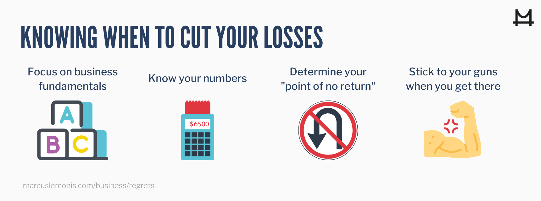 Four ways to determine when to cut your losses