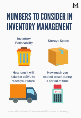 Here are some numbers to consider when inventory planning