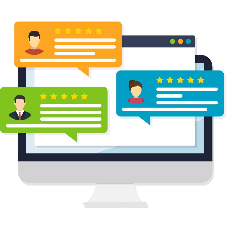 Customer feedback through online customer reviews and ratings