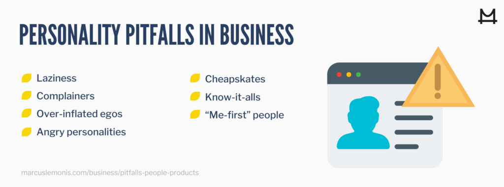 Personality pitfalls for people to have in business