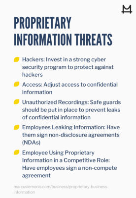 Proprietary information threats and how to avoid them
