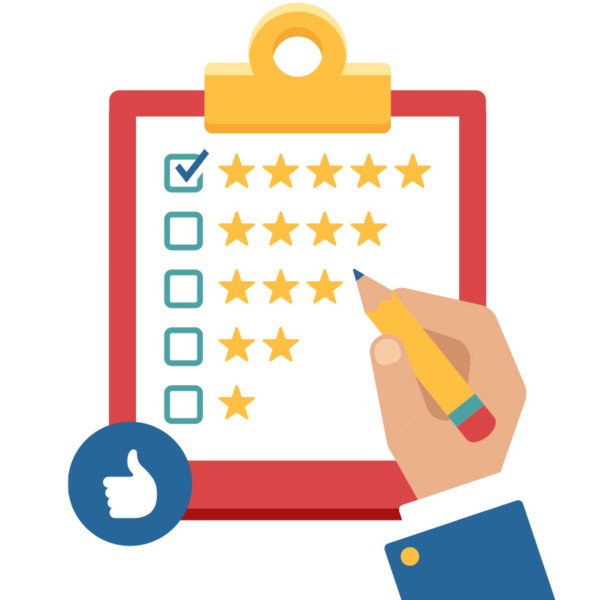 Image of a clipboard with a checklist of various star ratings.