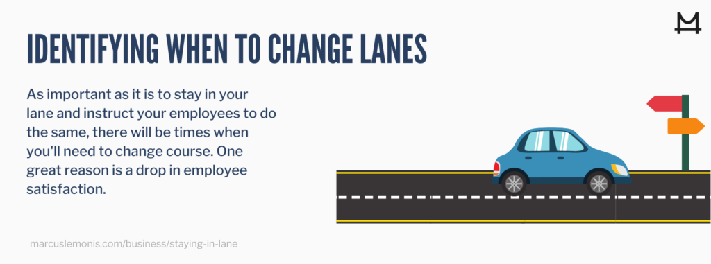 List of good reasons to change lanes.