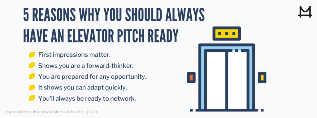 Five reasons why you should always have an elevator pitch ready