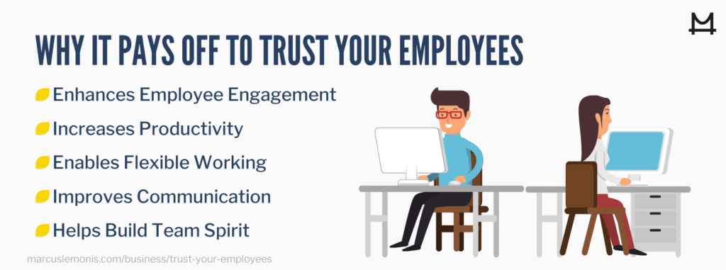 Reasons why it pays off to trust your employees