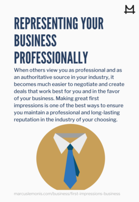 Tips on how to represent your business professionally