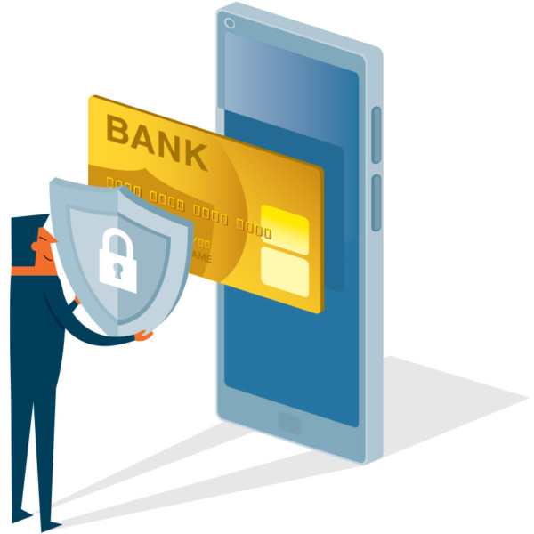 Securing user bank information on mobile devices