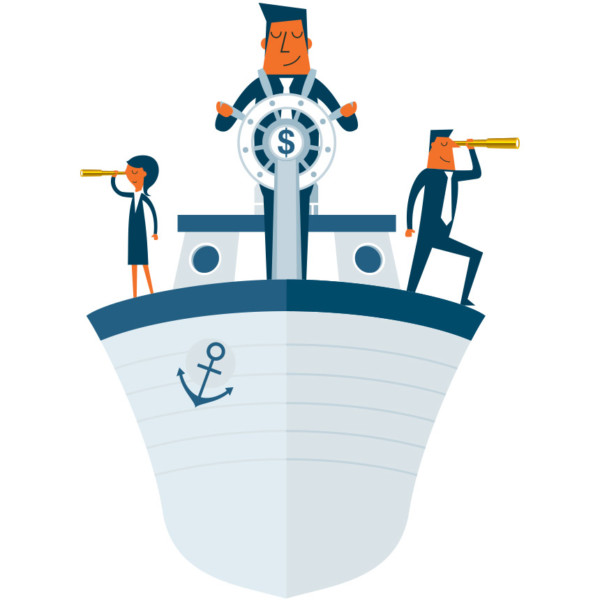 Image of someone steering a ship.