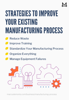 List of strategies to improve your existing manufacturing process.