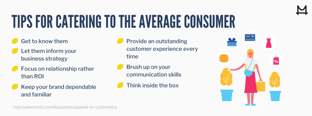 List of tips for catering to the average customer