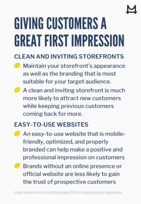Tips for making a great first impression with potential customers