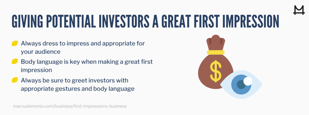 Tips on how to give potential investors great first impression