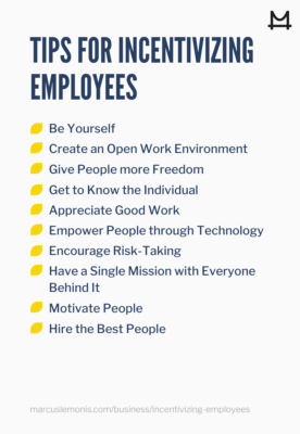 Tips for incentivising employees