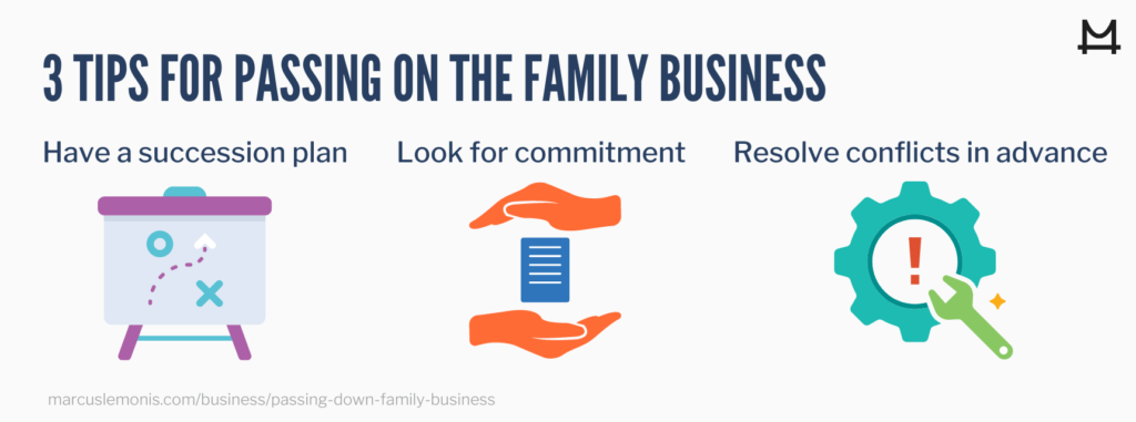 Three tips for passing down the family business