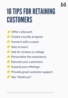 Ten tips for successfully retaining customers