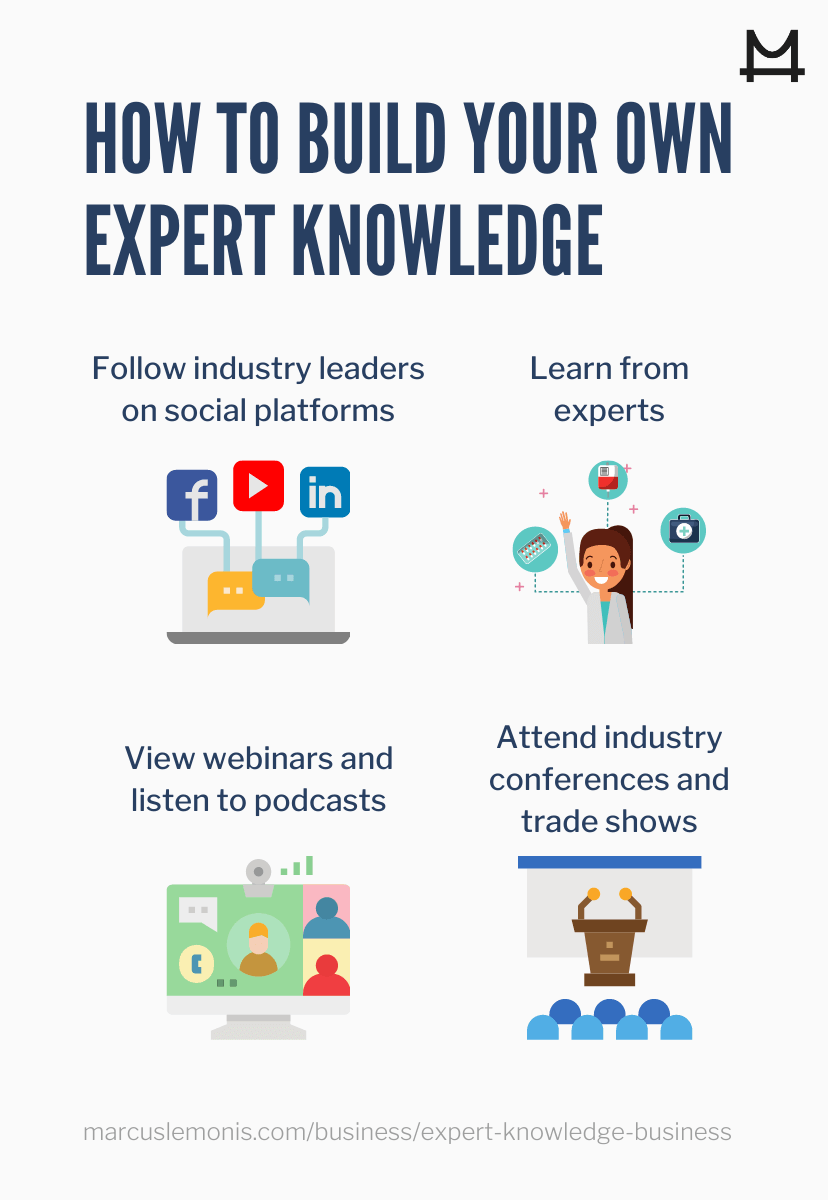 Tips on how to build your expert knowledge in business