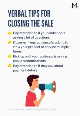 List of Verbal Cues To Ask For The Sale