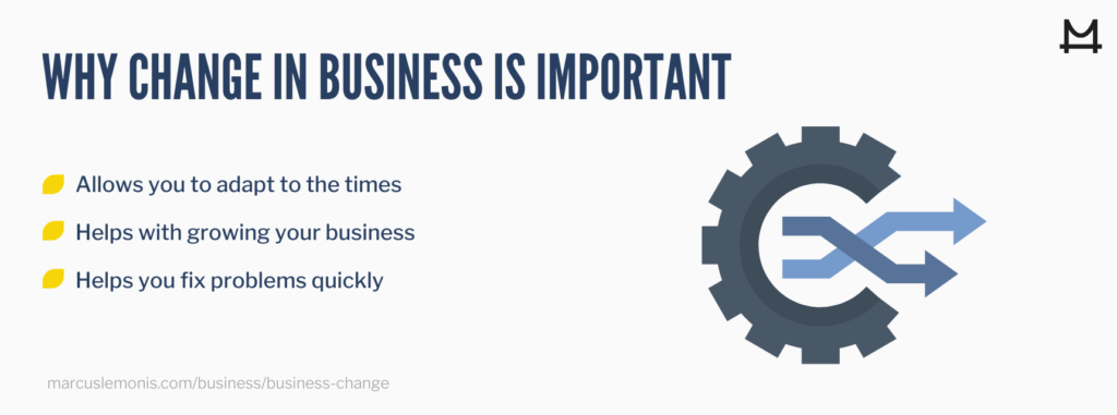 List of reasons why change is important in business