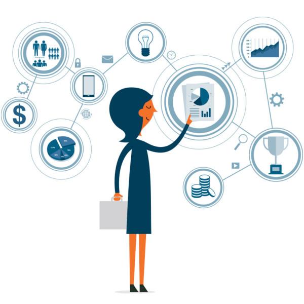Woman preparing her product process development through technology
