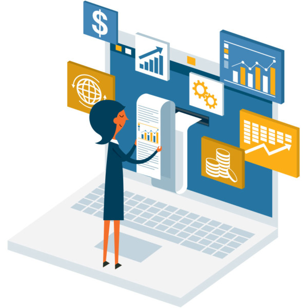 Women building a successful business by being willing to learn about how to manage her assets