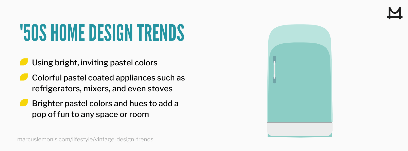 List of 50's home trends making a comeback.