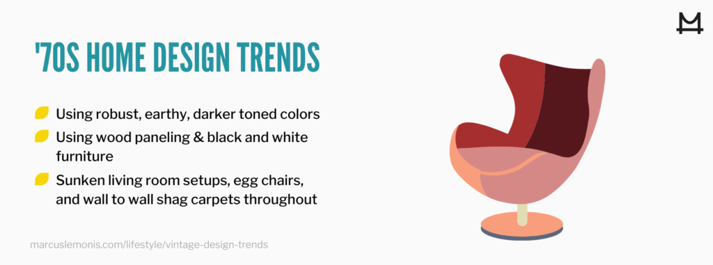 List of 70's home trends making a comeback.