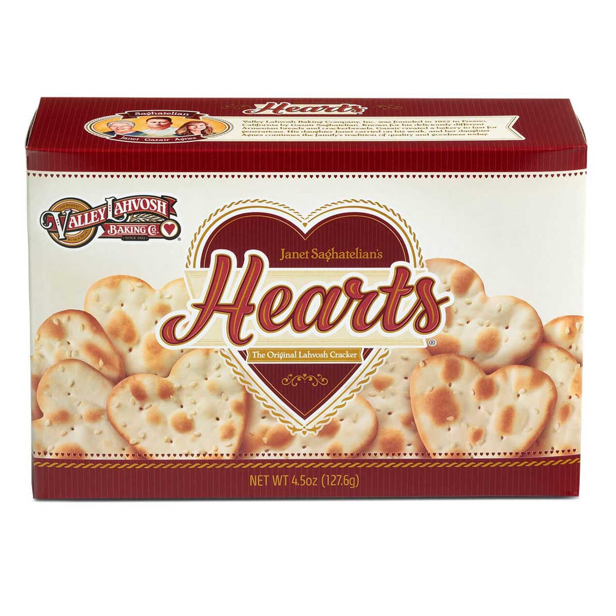 image of hearts crackers