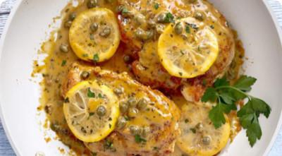 Chicken Lemonis plated