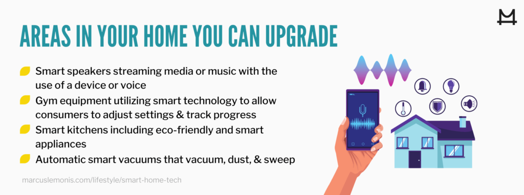 List of areas in your home that you can upgrade with smart technology