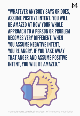 Reasons why you should assume the best intentions