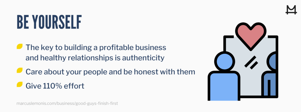 How to be yourself in business.