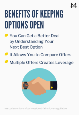 List of the benefits of keeping options open.